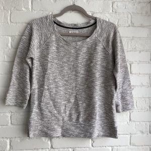 Lou & Grey White Black Gold Speckle Sweater XS